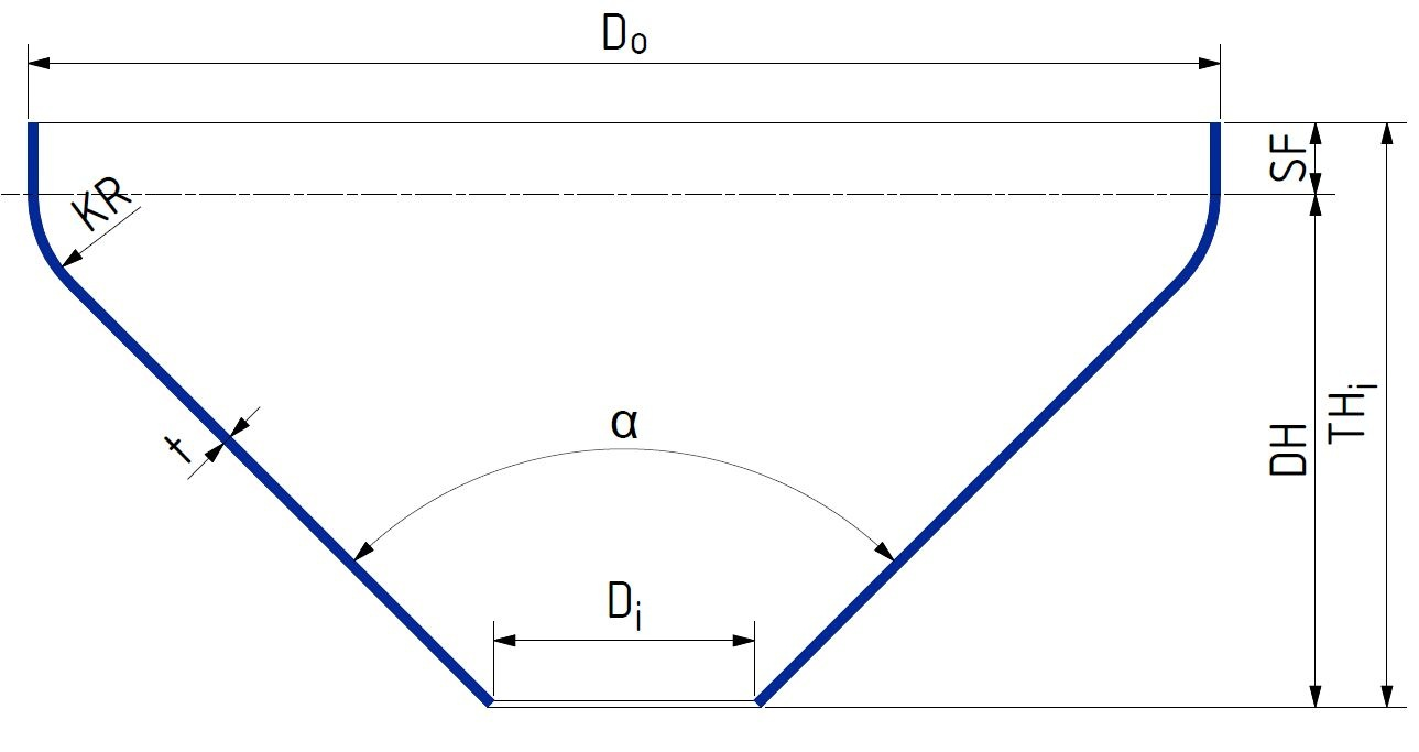 how to draw a cone flat pattern